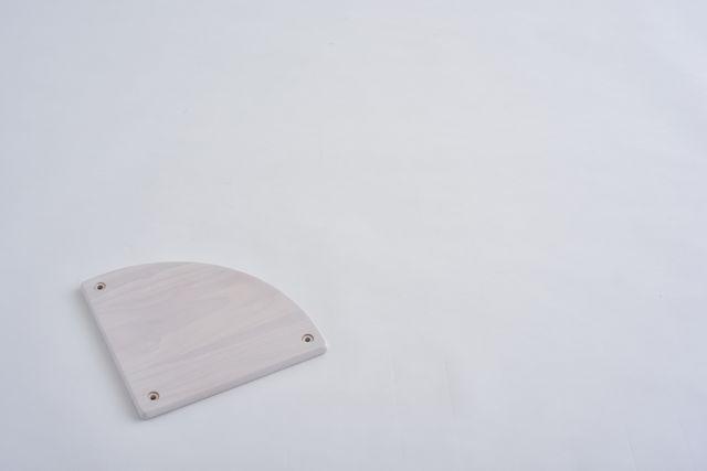 ラバーラック扇棚板 ホワイトR280