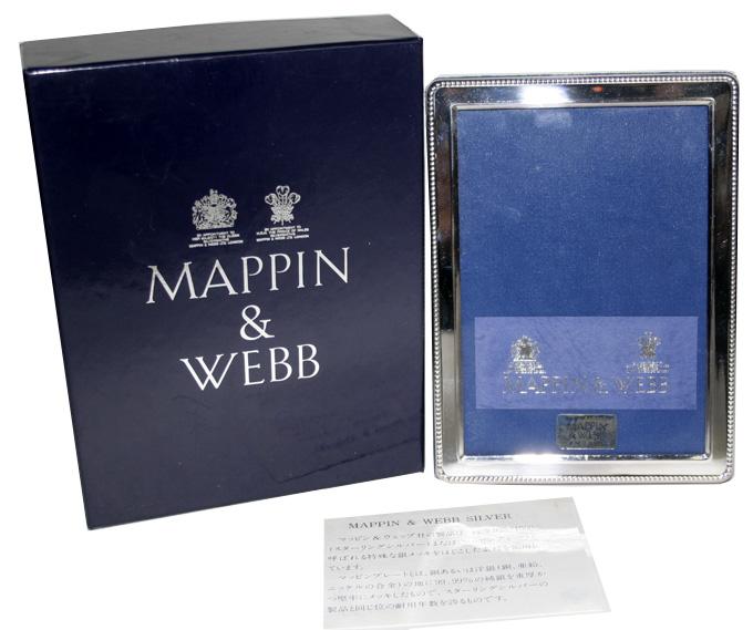 Mappin & Webb マッピン&ウェッブ シルバープレート フォトフレーム L判サイズ