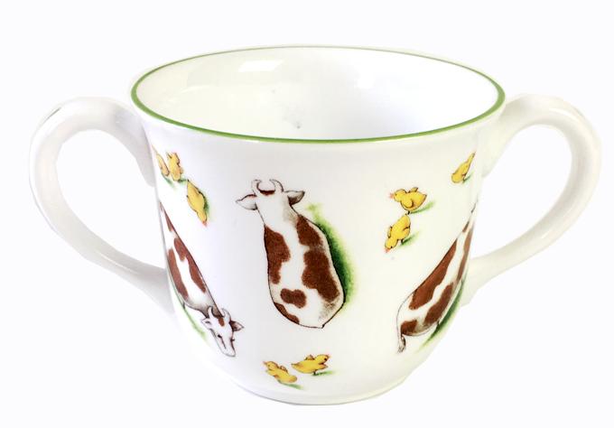 ティファニー ファーム Tiffany Farm  両ハンドルチャイルドマグカップ ギリス製 子供 食器
