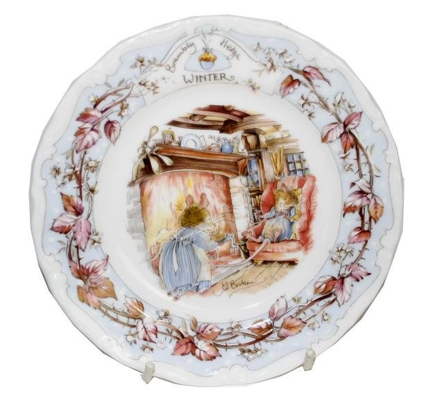 ロイヤルドルトン Royal Doulton ブランベリーヘッジ  ウインター Winter 16cm こぶりケーキプレート
