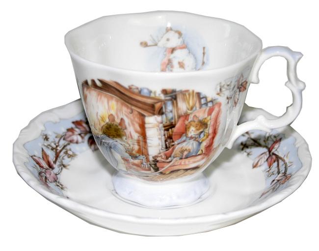 ロイヤルドルトン Royal Doulton ブランブリーヘッジ ウィンター ティーカップ&ソーサー