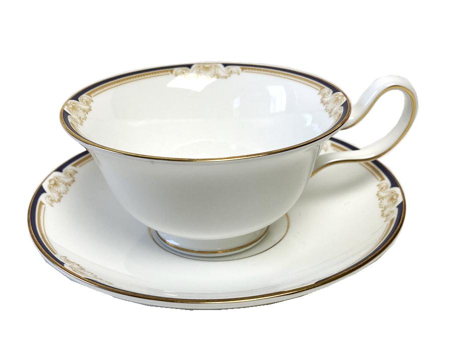 廃盤 ウェッジウッド Wedgewood キャベンディッシュ ピオニーシャイプ ティーカップ&ソーサー