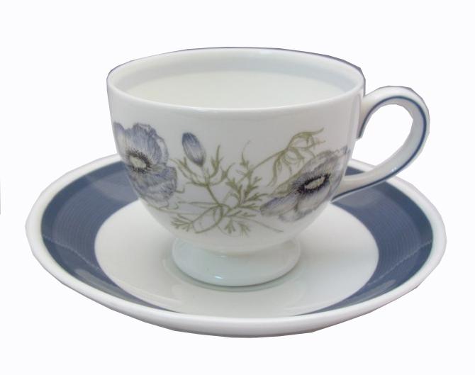廃番 ウェッジウッド wedgwood グレンミスト リーシェイプ ティー&コーヒー兼用カップ&ソーサー