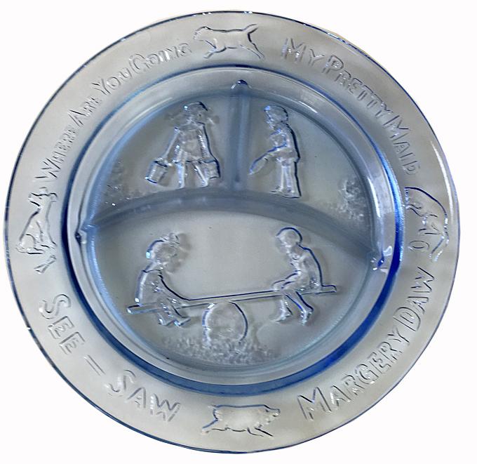 USA TIARA (インディアナグラス社)  マザーグース  ガラスランチプレート