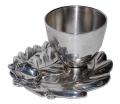 ヴィンテージ  Roux-Maroqiand France シルバープレート エイコーン(どんぐり)モチーフ エッグカップ