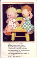 アンティークカード マーベルルーシーアトウェル Marbel Lucie Attwell1950年代(イギリス)