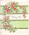 アンティークカード バラとマーガレットのエンボスノートカード(イギリス)