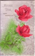 アンティークカード ピンクローズのノートカード(イギリス)