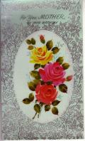 アンティークカード セルロイドのバラのノートカード(イギリス)