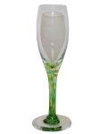 廃番 KOSTA BODA コスタボダ コスタボダ KOSTA BODA (スウェーデン) グリーンマーブルステム クリスタル ワイングラス シャンパングラス
