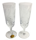 Royal Brierlay  葉を実のカット クリスタルフルートグラス ペアセット