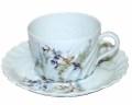 フランスアンティーク リモージュ Havilland (リモージュ)パープルの花 ティーカップ&ソーサー