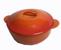 ル・クルーゼ LE CREUSET レギュミエ Legumier オレンジ 20cmキャセロール 鋳物