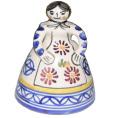 スペイン 陶器 少女のベル