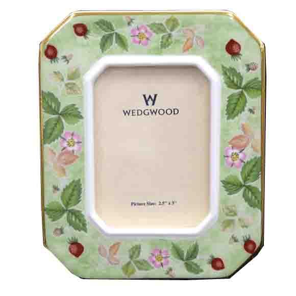 廃番 ウェッジウッド Wedgwood ワイルドストロベリー フォトフレーム  写真立て