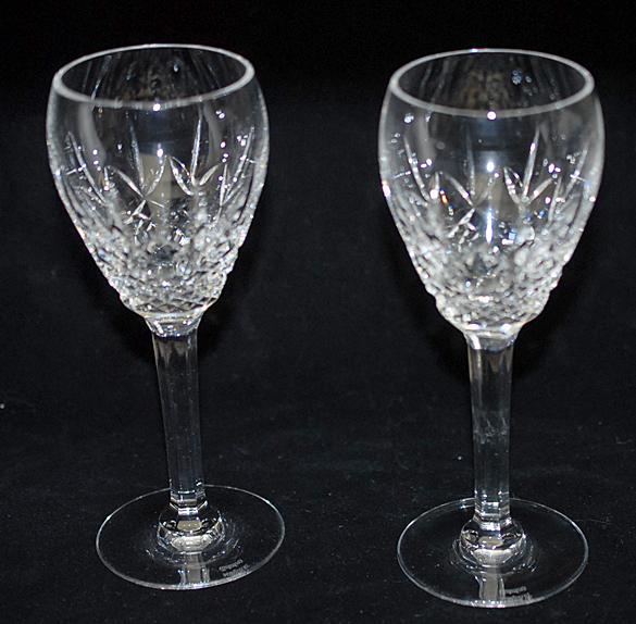 ウォーターフォードクリスタル Waterford Crystal LISMORE リズモア  白 ワイングラス ペアセット