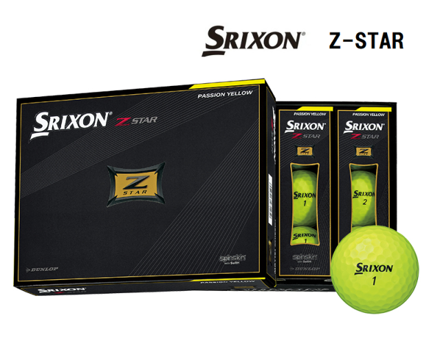 ダンロップ スリクソン Z-STAR プレミアムパッションイエロー 1ダース SRIXON