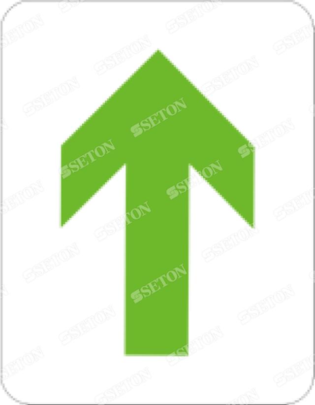 フロア矢印_黄緑
