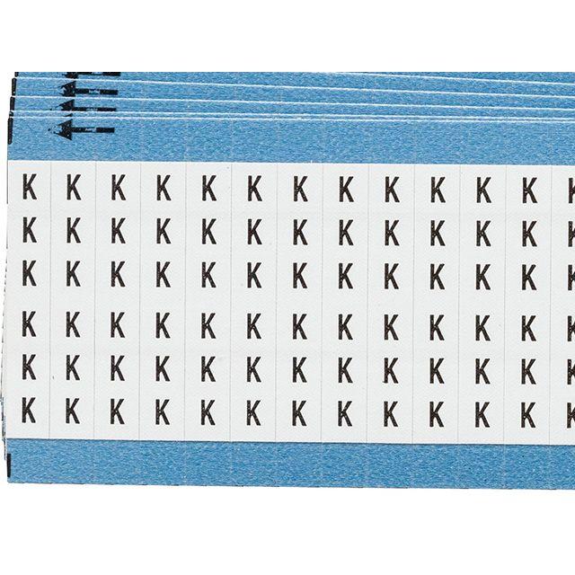 ワイヤーマーカーカード「K」WM-K-PK 900ラベル/箱