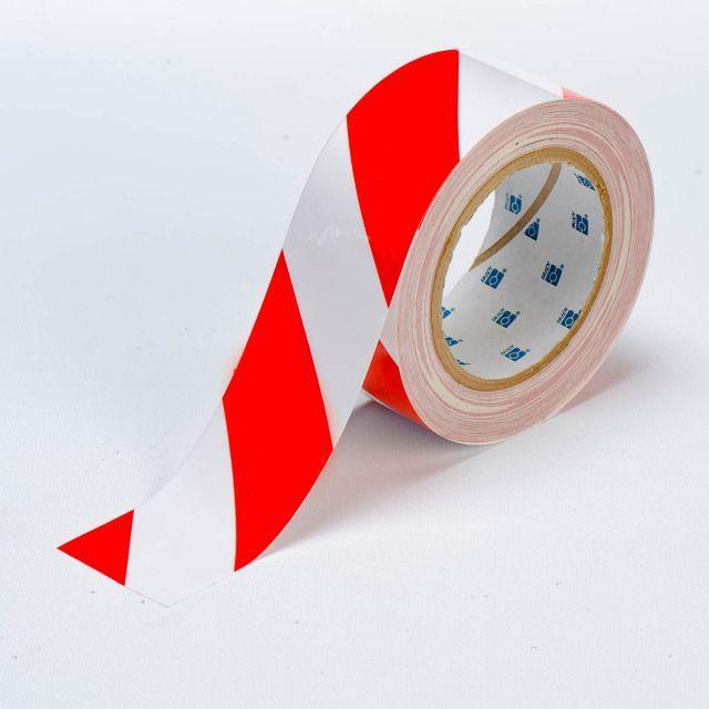 フロアラインテープ B-514 白/赤 50.8mm x 30.48M