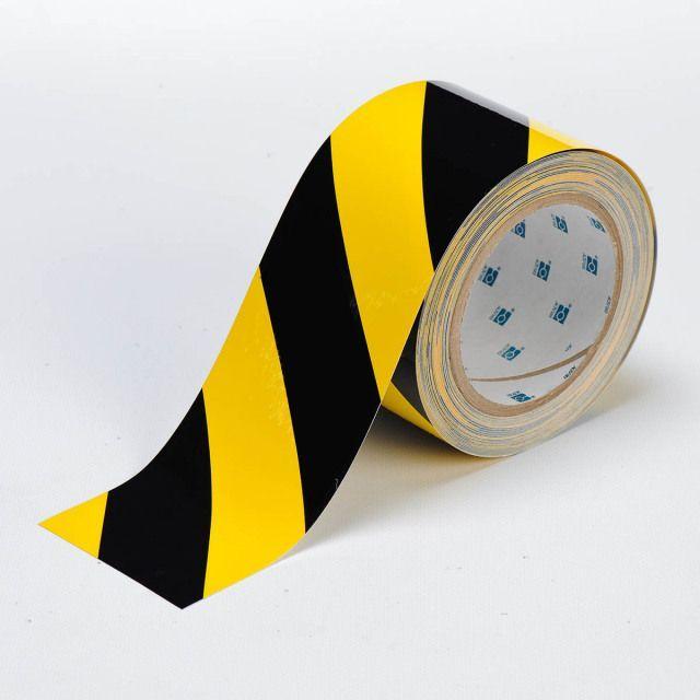 フロアラインテープ B-514 黄色地/黒 76.2mm x 30.48M