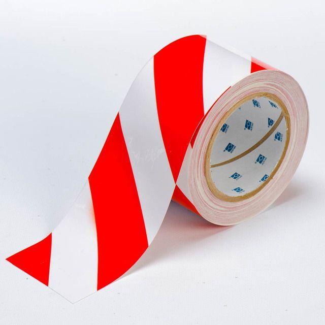 フロアラインテープ B-514 白/赤 76.2mm x 30.48M