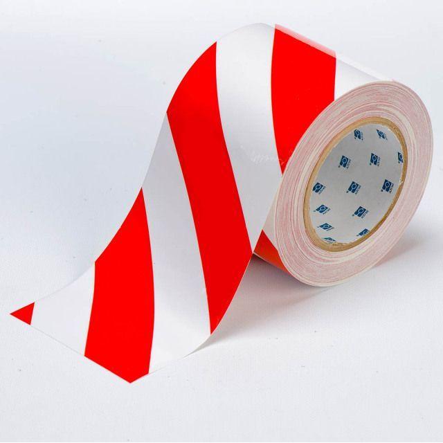 フロアラインテープ B-514 白/赤 101.6mm x 30.48M