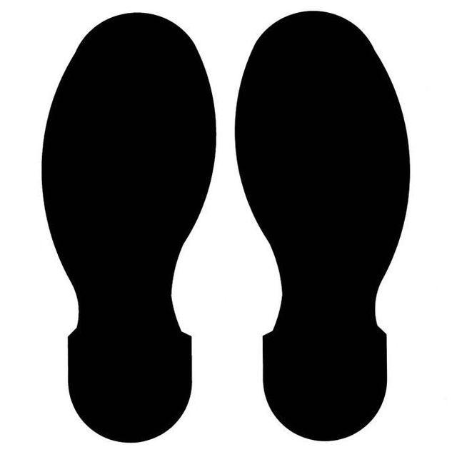 足跡型10枚(右足テープ:5枚、左足テープ:5枚/5足分相当) B-514 黒 254mm x 100mm