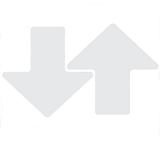 フロアマーキングテープ 矢印型 100枚/セット B-514 白 76.2mm x 203.2mm