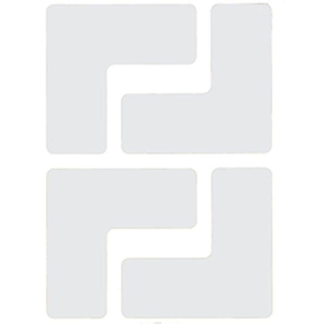 フロアマーキングテープ コーナーマーク用 L字型-20枚/セット B-514 白 50.8mm x 127mm