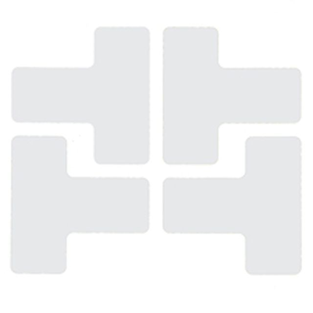 フロアマーキングテープ 仕切りマーク用 T字型-20枚/セット B-514 白 50.8mm×127mm