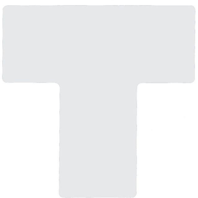 仕切りマーク用 T字型-20枚/セット B-514 白 101.6mm×254mm