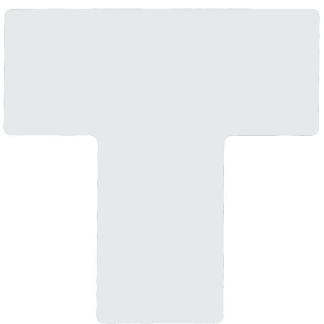 フロアマーキングテープ 仕切りマーク用 T字型-20枚/セット B-514 白 101.6mm×254mm