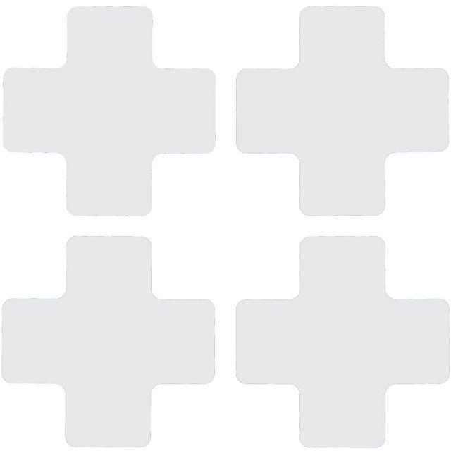 フロアマーキングテープ センターマーク用 十字型-20枚/セット B-514 白 50.8mm x 127mm