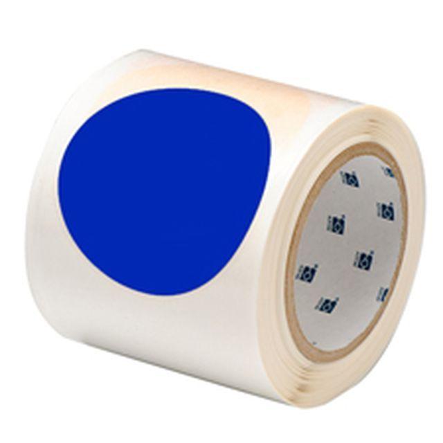 等間隔設定済 フロアマーキングテープ (457.2mm間隔) B-514 青 88.9mm x 30.48m ドット 55枚