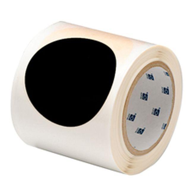 等間隔設定済 フロアマーキングテープ (457.2mm間隔) B-514 黒 88.9mm x 30.48m ドット 55枚