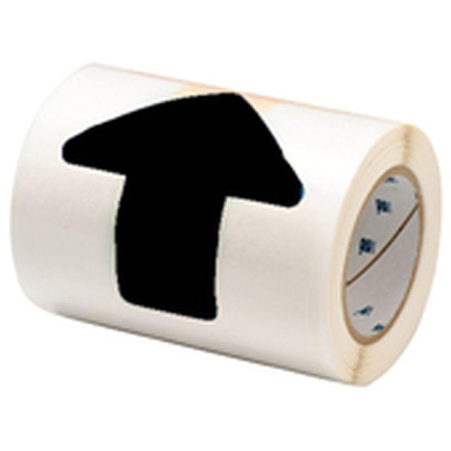 等間隔設定済 フロアマーキングテープ (457.2mm間隔) B-514 黒 50.8mm x 127mm x 30.48m 矢印型 52枚