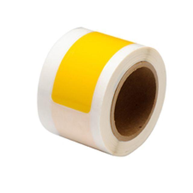 等間隔設定済 フロアマーキングテープ (457.2mm間隔) B-514 黄 50.8mm x 203.2mm x 30.48m ダッシュ型 46枚