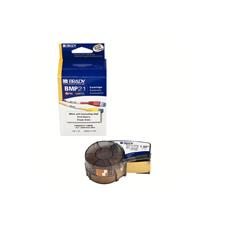 M21-1500-427  38.1mm x 4.27M 黒字/白+透明オーバーラミネート  連続紙 5巻/セット