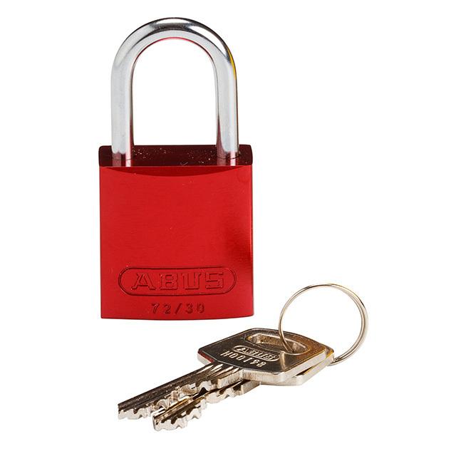 コンパクトアルミニウムパドロック 赤