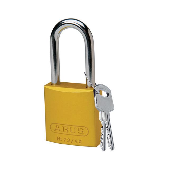 アルミニウムパドロック 38.1mm 黄