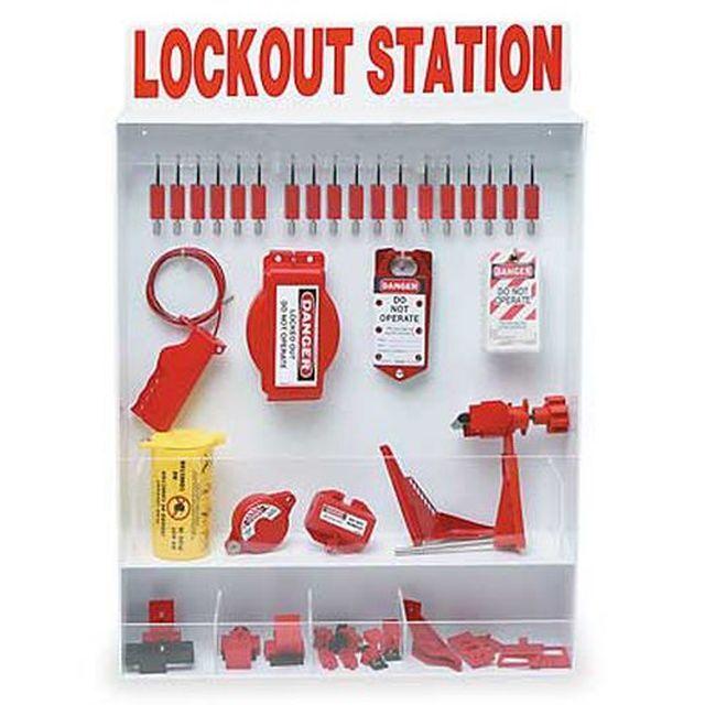 XL ロックアウトステーション(18パドロック、25タグ付き)