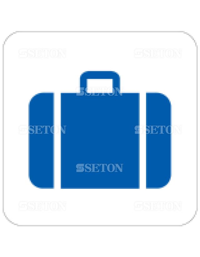 フロア・サインマークシール AIGA 手荷物預入 言語なし 140×140