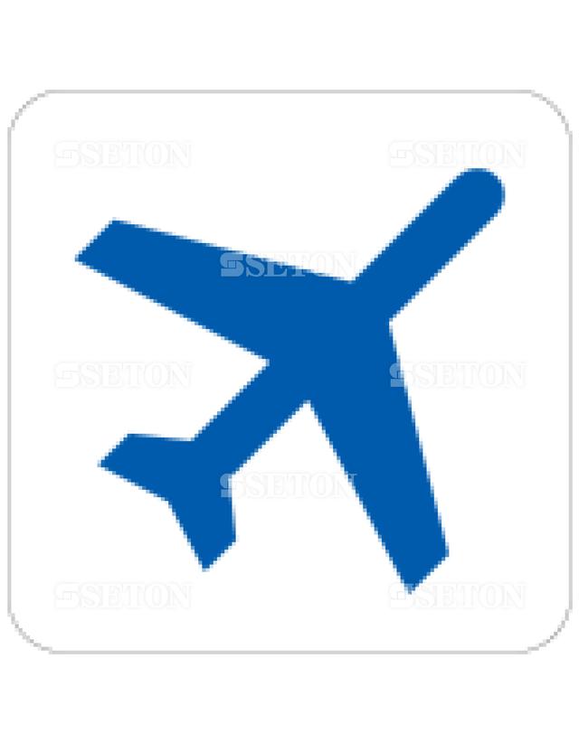 フロア・サインマークシール AIGA 出発便 言語なし 140×140