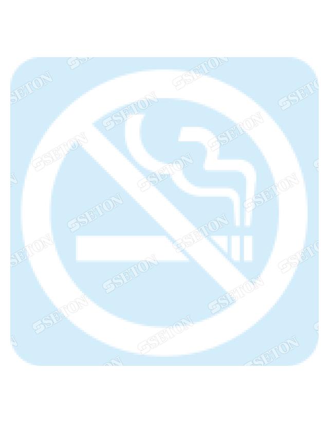 フロア・サインマークシール オリジナル 禁煙 白 言語表記なし 140×140mm