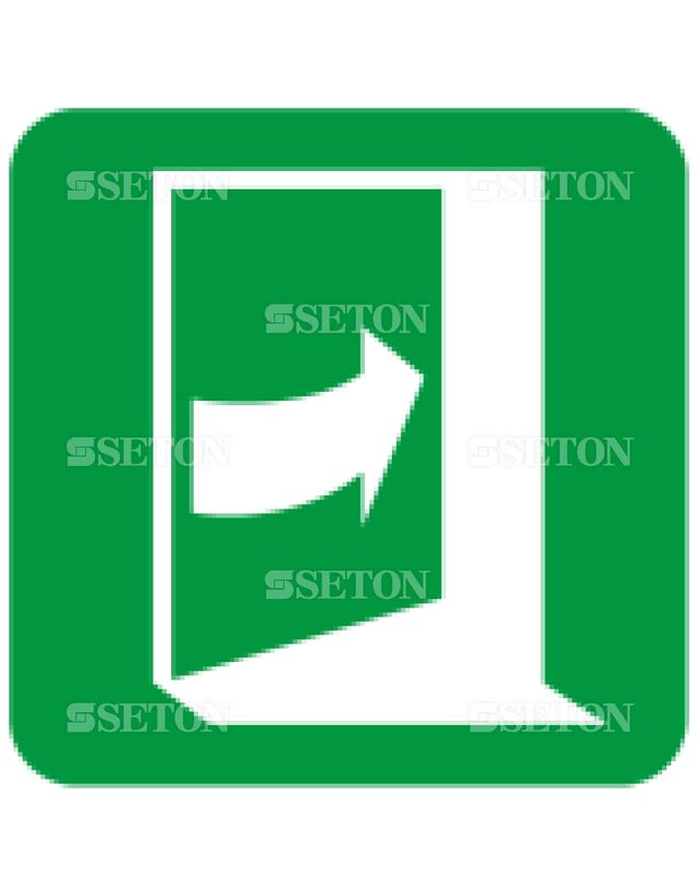 フロア・サインマークシール ISO 右側を押すと開く 言語なし 140×140