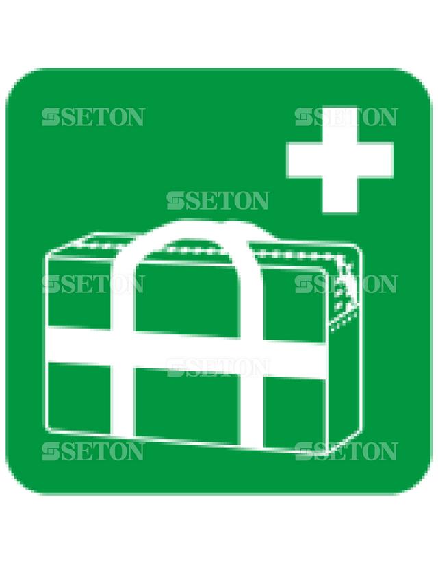 フロア・サインマークシール ISO 医療収納バッグ 言語なし 140×140