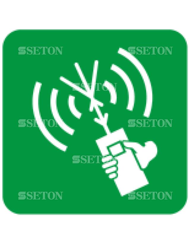 フロア・サインマークシール ISO 2ウェイVHF無線電 言語なし 140×140