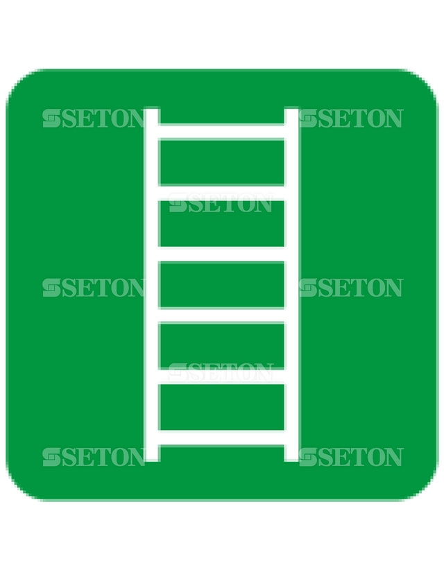 フロア・サインマークシール ISO 脱出用はしご 言語なし 140×140