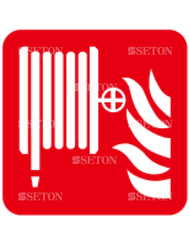 フロア・サインマークシール ISO 消火ホース 言語なし 140×140